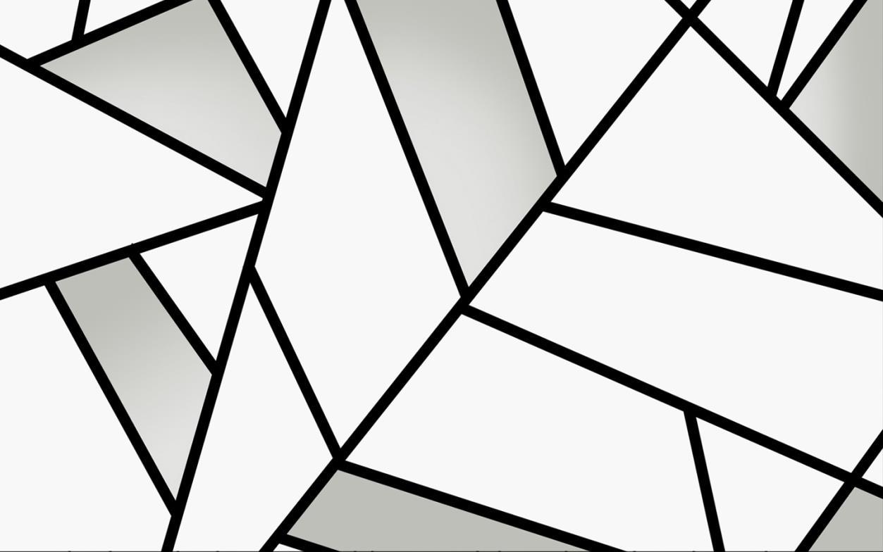 现代简约线条黑白几何电视背景墙